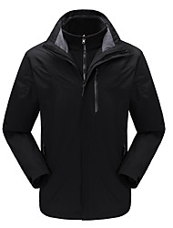 cheap -DZRZVD® Men's Waterproof Hiking Jacket Winter Outdoor Solid Color Thermal / Warm Waterproof Windproof Breathable Jacket 3-in-1 Jacket Waterproof Rain Proof Back Country Mountaineering Running Shoes