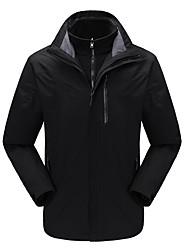 cheap -DZRZVD® Men's Waterproof Hiking Jacket Winter Outdoor Thermal / Warm Waterproof Windproof Breathable Jacket 3-in-1 Jacket Waterproof Rain Proof Back Country Mountaineering Running Shoes Black / Dark