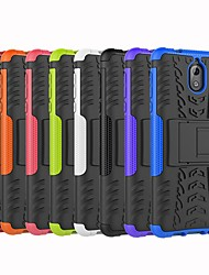 cheap -Case For Nokia Nokia 8 / Nokia 7.1 / Nokia 6 Shockproof / with Stand Back Cover Armor Hard PC