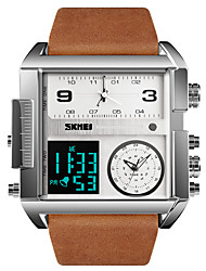 cheap -SKMEI Men's Sport Watch Military Watch Analog - Digital Digital Luxury Water Resistant / Waterproof Alarm Calendar / date / day / One Year / Genuine Leather