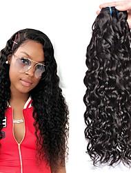 cheap -4 Bundles Water Wave Human Hair Unprocessed Human Hair 200 g Headpiece Natural Color Hair Weaves / Hair Bulk Hair Care 8-28 inch Natural Color Human Hair Weaves Newborn Cute Hot Sale Human Hair / 8A