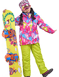 cheap -MARSNOW® Girls' Activewear Set Ski Jacket with Pants Camping / Hiking Winter Sports Thermal / Warm Waterproof Windproof POLY Clothing Suit Ski Wear