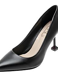 cheap -Women's Heels Kitten Heel Pointed Toe PU Minimalism Winter Black / Daily