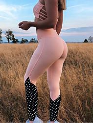 abordables -Femme Taille Haute Mosaïque Pantalon de yoga Bloc de Couleur Zumba Fitness Entraînement de gym Collants Tenues de Sport Butt Lift Contrôle du Ventre Power Flex Haute élasticité Mince