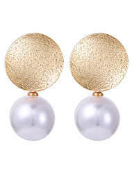 cheap -Women's Drop Earrings Classic Ball Geometric Unique Design Fashion Imitation Pearl Earrings Jewelry Golden For Daily Office & Career 1 Pair