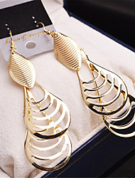 cheap -Women's Drop Earrings Hanging Earrings Hollow Leaf Drop Cheap Vintage Gold Plated Earrings Jewelry Gold / Silver For Wedding Party 1 Pair