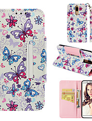 cheap -Case For Huawei Mate 10 lite Wallet / Card Holder / Flip Back Cover Butterfly Hard PU Leather