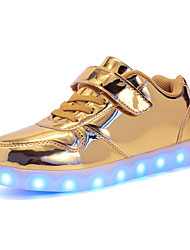 cheap -Boys USB Charging  LED / LED Shoes PU Sneakers Little Kids(4-7ys) / Big Kids(7years +) LED Gold / Silver / Pink Fall / Winter / Rubber