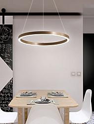 cheap -1-Light LED® Circular Novelty Chandelier Downlight Brushed Aluminum Adjustable 110-120V 220-240V Warm White Cold White