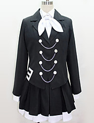 cheap -Inspired by Vocaloid Cosplay Anime Cosplay Costumes Japanese Cosplay Suits Black & White Contemporary Cravat Blouse Top For Men's Women's / Skirt / More Accessories / Skirt / More Accessories