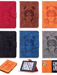 Недорогие -Кейс для Назначение Amazon Kindle PaperWhite 4 Защита от удара / со стендом / С узором Чехол Панда Твердый Кожа PU