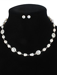 cheap -Freshwater Pearl Modern Style Jewelry Set - Pearl Joy Simple Style, Fashion, Festival / Holiday White For Vacation Beach Women's