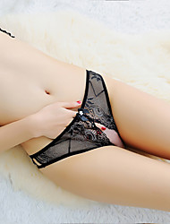 cheap -Women's Lace / Cut Out Brief - Normal Low Waist White Black Blue One-Size