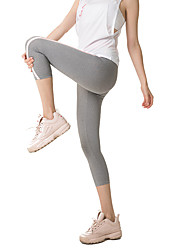cheap -Women's High Waist Yoga Pants Capri Leggings Quick Dry Black Grey Zumba Running Workout Sports Activewear Stretchy High Elasticity Skinny