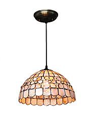 cheap -1-Light 30cm(11.8 Inch) Mini Style Pendant Light Metal Shell Bowl Others Tiffany 110-120V / 220-240V