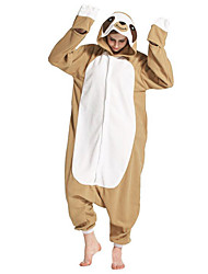 cheap -Adults' Kigurumi Pajamas Sloth Onesie Pajamas Polar Fleece Brown Cosplay For Men and Women Animal Sleepwear Cartoon Festival / Holiday Costumes