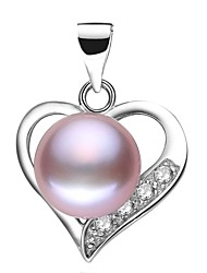 cheap -Freshwater Pearl Heart Pendant - Pearl Heart Classic & Timeless, Simple Style, Fashion White / Pink / Purple For Event / Party Gift Women's