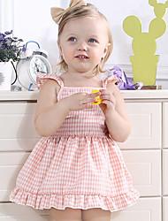 cheap -Baby Girls' Active Daily Plaid Sleeveless Dress Blushing Pink / Toddler
