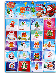 cheap -Christmas Cards and Tags Christmas Cartoon Characters Door Sticker Lovely Pure Paper Child's All Toy Gift 1*200 pcs