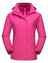 cheap -DZRZVD® Women's Waterproof Hiking 3-in-1 Jacket Winter Outdoor Solid Color Thermal / Warm Waterproof Windproof Breathable Jacket 3-in-1 Jacket Top Waterproof Rain Proof Outdoor Exercise Back Country