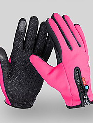 cheap -Winter Bike Gloves / Cycling Gloves Mountain Bike MTB Thermal / Warm Waterproof Windproof Breathable Full Finger Gloves Touch Screen Gloves Sports Gloves Grey Red Blue for Adults' Outdoor / Anti-Slip