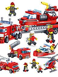 Недорогие -Конструкторы Конструкторы Игрушки Обучающая игрушка 4 pcs совместимый Legoing Ручная работа Взаимодействие родителей и детей Пожарная машина Все Мальчики Девочки Игрушки Подарок