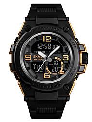 Недорогие -SKMEI Муж. Спортивные часы Армейские часы электронные часы Цифровой Черный 50 m Будильник Календарь Секундомер Аналого-цифровые На каждый день Мода - Красный Зеленый Синий Один год Срок службы батареи