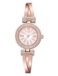 cheap -Women's Dress Watch Wrist Watch Diamond Watch Quartz Silver / Rose Gold New Design Casual Watch Adorable Analog Heart shape Fashion - Silvery / White Rose Gold / White Black / Rose Gold One Year
