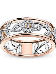 cheap -Women's Band Ring spinning ring Cubic Zirconia 1pc Rose Gold Copper Rose Gold Plated Silver-Plated Geometric Luxury Unique Design Party Gift Jewelry Classic Cool Lovely