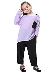 cheap -Kids Girls' Active Basic Street chic Daily Sports Solid Colored Pants Navy Blue