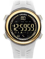 cheap -Men's Sport Watch Digital Watch Digital Quilted PU Leather Black / White Water Resistant / Waterproof Calendar / date / day Digital Casual Fashion - Black / Gold Black / Blue White / Gold