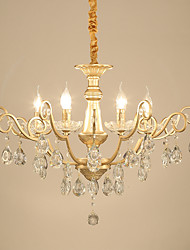 cheap -JLYLITE 6-Light 75 cm Mini Style Chandelier Metal Candle-style Electroplated Traditional / Classic / Country 110-120V / 220-240V