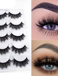 cheap -Eyelash Extensions 10 pcs Natural Best Quality 3D Lightweight Beauty Cute Animal wool eyelash Christmas Gifts Party Halloween Full Strip Lashes Crisscross Thick - Makeup Daily Makeup Glamorous