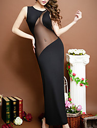 cheap -Women's Mesh Super Sexy Chemises & Gowns Nightwear Solid Colored Black One-Size