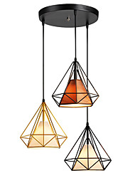 cheap -3-Light 30 cm Rope / Creative Pendant Light Metal Cone / Industrial Painted Finishes Retro 110-120V / 220-240V