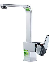 Недорогие -смеситель для кухни - современный никель полированный керамический клапан