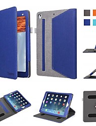 cheap -Case For Apple iPad Air / iPad Mini 3/2/1 / iPad Mini 4 Shockproof / Flip / Origami Full Body Cases Solid Colored Hard Textile / iPad (2017)