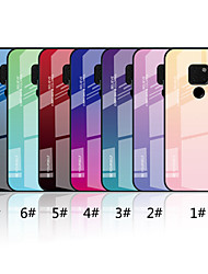 cheap -Phone Case For Huawei Back Cover Mate 10 lite Huawei Mate 20 lite Huawei Mate 20 pro Huawei Mate 20 Mirror Pattern Color Gradient Hard Tempered Glass