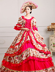 cheap -Queen Princess Rococo Baroque Victorian 18th Century Ball Gown Dress Masquerade Women's Costume Purple / Yellow / Red Vintage Cosplay Party Prom Half Sleeve Floor Length