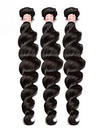 Недорогие -3 Связки Бразильские волосы Свободные волны Не подвергавшиеся окрашиванию 300 g Человека ткет Волосы Пучок волос 10-26 дюймовый Нейтральный Ткет человеческих волос Расширения человеческих волос