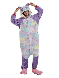 cheap -Adults' Kigurumi Pajamas Cartoon Panda Onesie Pajamas polyester fibre Rainbow Cosplay For Men and Women Animal Sleepwear Cartoon Festival / Holiday Costumes