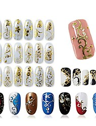 cheap -1 pcs 3D Nail Stickers Creative nail art Manicure Pedicure Multi Function Fashion Daily