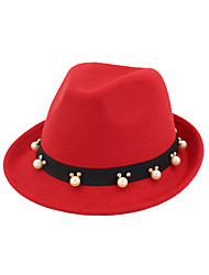 cheap -Elizabeth Audrey Hepburn Women's Adults' Ladies Retro Vintage Felt Hats Hat Black Brown Red Vintage Headwear Lolita Accessories
