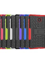 cheap -Phone Case For Samsung Galaxy Back Cover Tab S2 8.0 Tab E 8.0 Tab A 8.0 (2017) Tab A 8.0 Tab A 8.0(2018) T387 Shockproof with Stand Tile Armor Hard PC
