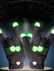 cheap -LED Lighting LED Gloves Finger Lights Classic Theme Lighting Fingertips Holiday Spandex Fabric Adults All Toy Gift