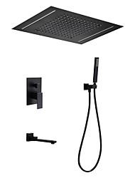 abordables -Robinet de douche - Moderne Finitions Peintes Système de douche Soupape céramique Bath Shower Mixer Taps / Laiton