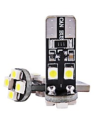 Недорогие -2pcs T10 Мотоцикл / Автомобиль Лампы 1 W SMD 3528 80 lm 8 Светодиодная лампа Лампа поворотного сигнала / Внутреннее освещение Назначение Универсальный Универсальный