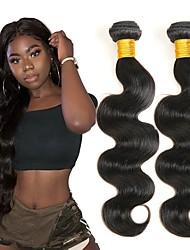 cheap -6 Bundles Brazilian Hair Body Wave Human Hair Unprocessed Human Hair Natural Color Hair Weaves / Hair Bulk Hair Care Extension 8-28 inch Natural Color Human Hair Weaves Extender Soft Silky Human Hair