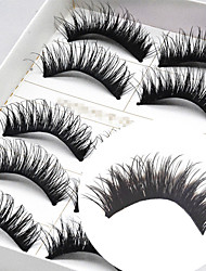 cheap -Eyelash Extensions 10 pcs Pro Multifunctional Fiber Daily Wear Full Strip Lashes - Makeup Daily Makeup High Quality Cosmetic Grooming Supplies