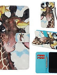cheap -Case For Apple iPhone XR Wallet / Card Holder / Flip Full Body Cases Animal Hard PU Leather